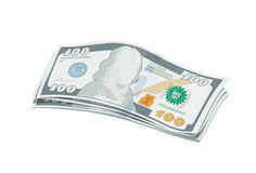 Batch of new one hundred dollars bank note Stock Photos