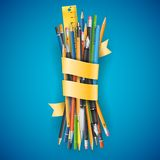 Batch of pencils Stock Images