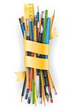 Batch of pencils Royalty Free Stock Photos