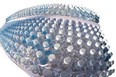 Batch plastic bottles of water. Royalty Free Stock Photography