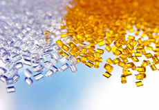 Batch of plastic polymer granules Stock Photography