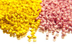 Batch of plastic polymer granules Royalty Free Stock Images