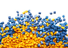 Batch of plastic polymer granules Stock Image