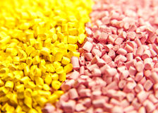 Batch of plastic polymer granules Royalty Free Stock Photography