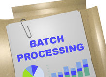 Batch Processing concept Royalty Free Stock Image