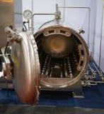 Batch retort sterilizer. Automated batch retort sterilizer for food industry royalty free stock photos