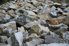 Batch of stones. In the nature , Austria stock image