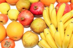 Batch of a variety of fruits Royalty Free Stock Image