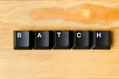 Batch word. With keyboard buttons royalty free stock photography