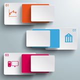 Batched Colored Rectangles 3 Options PiAd Royalty Free Stock Images