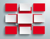 Batched Red Rectangles White Cross Drugstore. Abstract medical cross with batched rectangles Stock Images