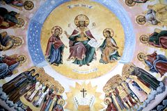 Batchkovo monastery fresco Royalty Free Stock Image