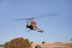 Batcopter Rides Stock Photo
