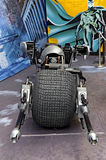 Batcycle eller batpod 2008 av uppassaren den mörka riddaren Royaltyfria Bilder