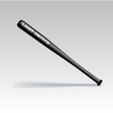 Bate de béisbol negro aislado vector stock de ilustración