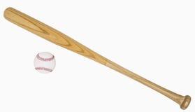Bate de béisbol y béisbol Imagen de archivo libre de regalías
