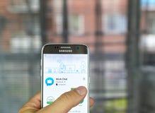Bate-papo app do trabalho de Facebook Imagens de Stock
