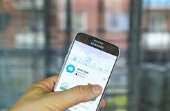 Bate-papo app do trabalho de Facebook Imagem de Stock Royalty Free