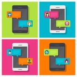 Bate-papo de Smartphone, conversação ilustração do vetor