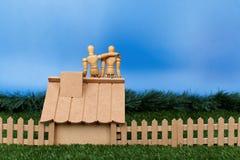 Bate-papo do manequim no telhado Imagem de Stock