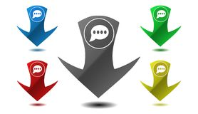 Bate-papo do ponteiro, ícone, sinal, ilustração Fotos de Stock