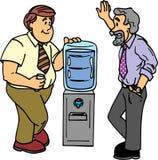 Bate-papo do refrigerador de água Foto de Stock