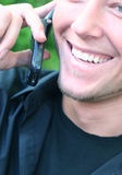 Bate-papo do telefone de pilha Imagem de Stock