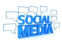 Bate-papo social dos media ilustração royalty free