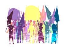 Bate uma reunião para os direitos Ilustração Foto de Stock Royalty Free
