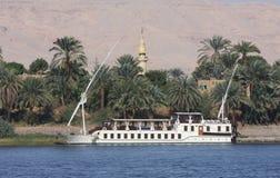 Bateau à voile de Felucca, fleuve le Nil Egypte Images libres de droits