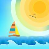bateau à voiles Images stock