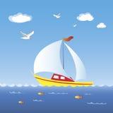 bateau à voiles illustration stock