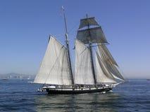 Bateau à voiles d'océan de San Diego image libre de droits