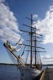 Bateau à voiles dans le port d'Oslo Photographie stock