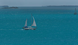 Bateau à voiles des Caraïbes Images stock