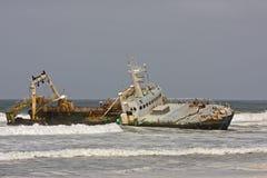 bateau échoué Image libre de droits