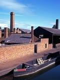Bateau étroit sur le canal, Dudley, Angleterre. photo stock