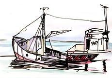 bateau illustration stock