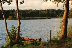 Bateau amarré Image stock