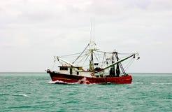 Bateau atlantique de crevette Photos libres de droits