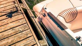 Bateau au dock Photo stock