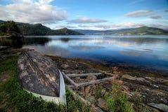 Bateau au fjord en Norvège. Photo stock