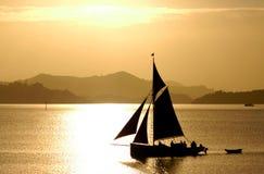 Bateau britannique traditionnel de mer images libres de droits