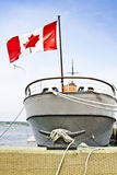 Bateau canadien au port Images stock
