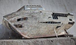 Bateau cassé de pêcheur Photo stock