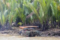 Bateau chez le Mekong au Vietnam photo libre de droits