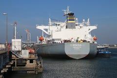 Bateau-citerne Vamos de pétrole brut de La Valette dans le port de maasvlakte dans le port de Rotterdam aux Pays-Bas photos stock