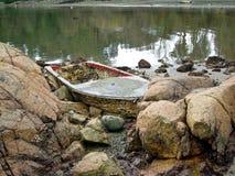 Bateau détruit Image libre de droits