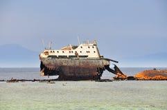 Bateau d'épave en Mer Rouge Image stock