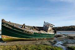 Bateau d'abandon sur la plage Photo libre de droits